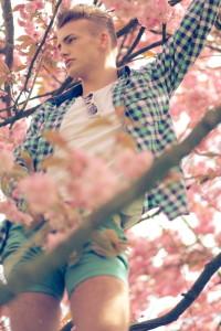 Cherry blossom at Victoria park Stretford